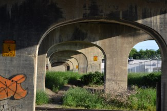 Central avenue viaduct with graffiti