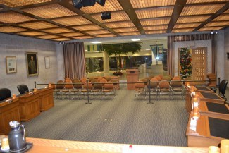 View of gallery in Council Chamber