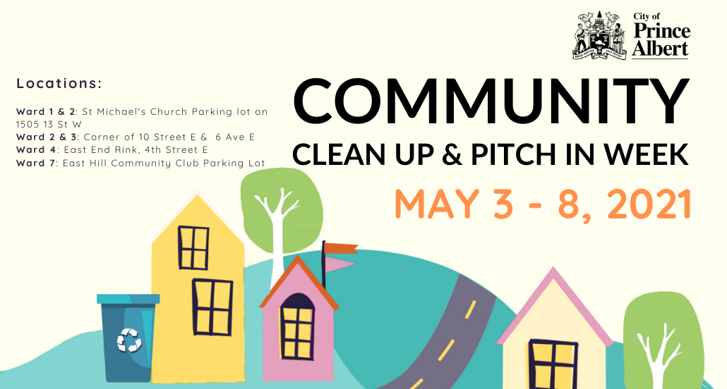 Pitch-In Week and Community Clean up events set for May 3 – 8, 2021
