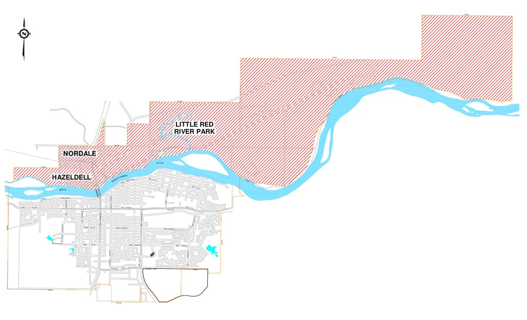 map of fire ban area north of the river