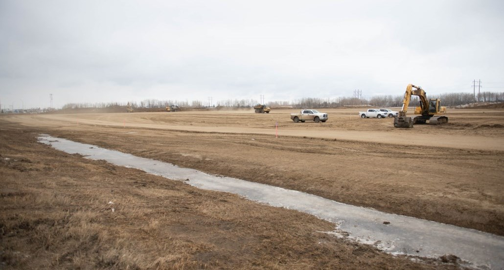site of the aquatic and arenas recreation centre march 2021