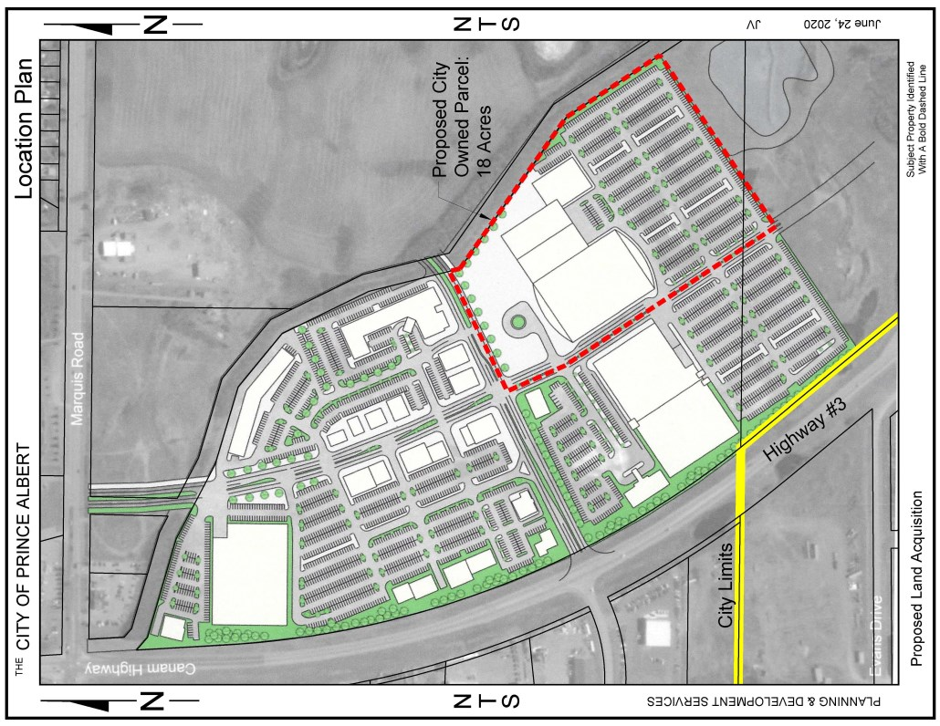 drawing of proposed city-owned parcel