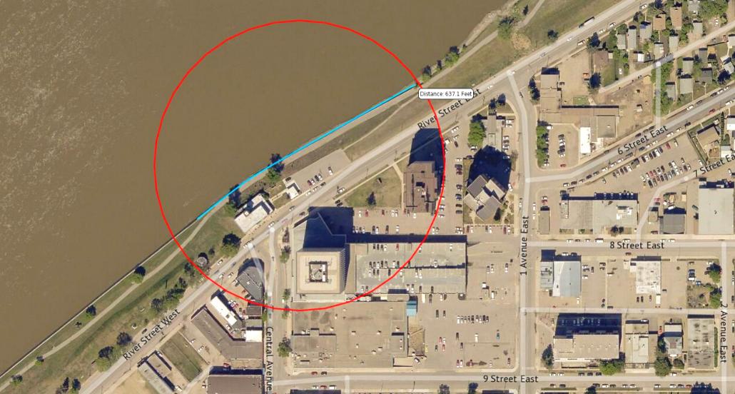 Satellite Image of riverbank