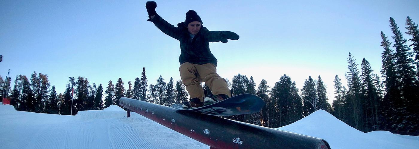 Snowboarder at Kinsmen Ski and Snowboard centre