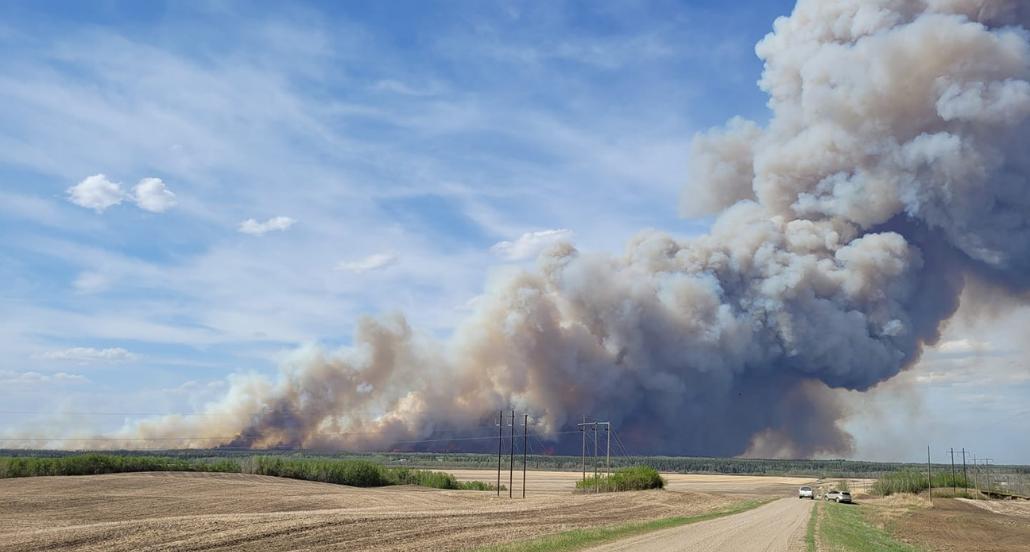 fire north of Prince Albert