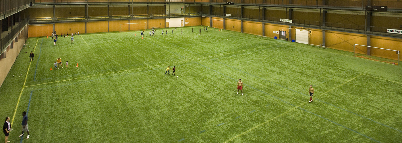 Indoor turf at Alfred Jenkins Field House