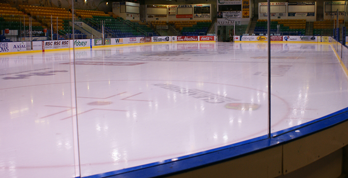 ice surface at an indoor arena