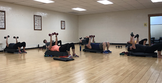 adult fitness class at margo fournier centre