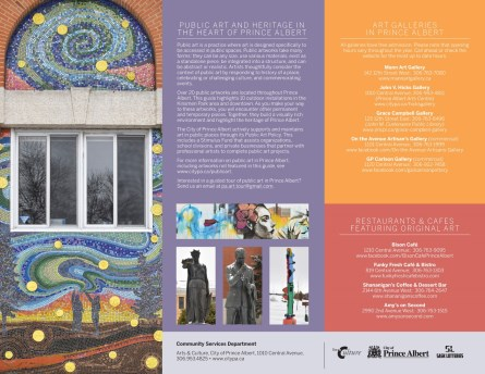 page 3 of public art brochure