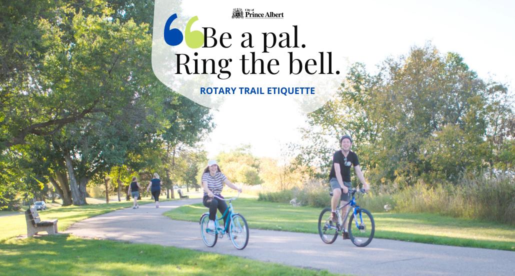 Biking on the City of Prince Albert's Rotary Trail