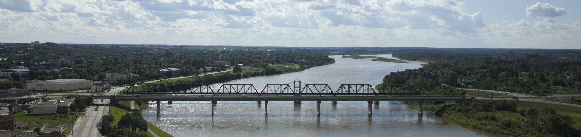 A shot of a bridge in Prince Albert